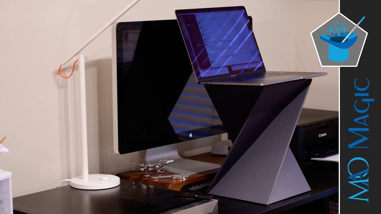 levit8 portable foldable standing desk review youtube