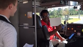 Watch Bus Driver React When Student Surprises Him with $450 for Birthday
