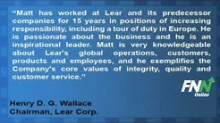 Lear Corp. Names New CEO, President and Director