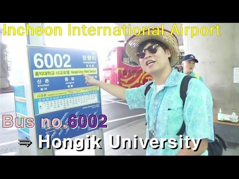 韓國首爾旅遊(韩国首尔旅游): 仁川国际机场(机场巴士) Incheon Airport_Bus? Trip to korea E02_kimpangdong