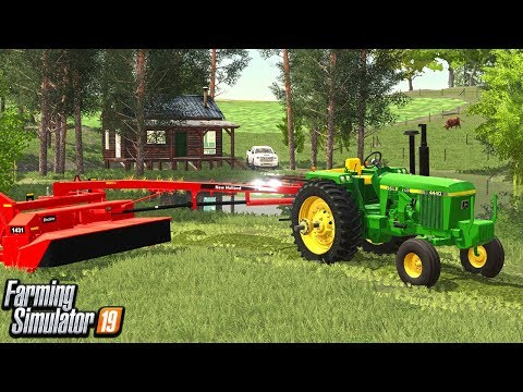 MOWING DOWN THE 1ST CROP (FARM SAVE ROLEPLAY) FARMING SIMULATOR 19