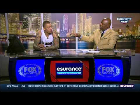 March 02, 2015 - Sunsports - Miami Heat's Michael Beasley Post Game Interview (Vs. Phoenix Suns)