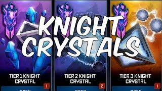 Tier 1,2 & 3 Knight Crystal Opening! - Transformers: Forged To Fight