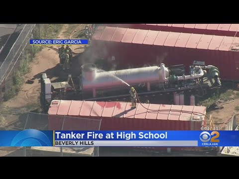 Pump Catches Fire At Beverly Hills High School