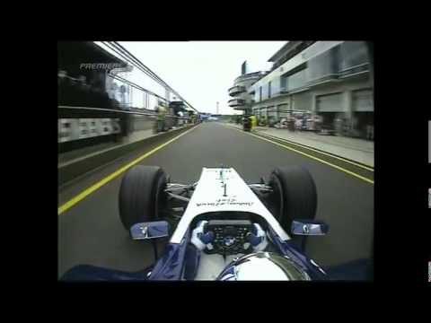 F1 2004-Europe GP-Juan Pablo Montoya-Williams BMW- V10 Sound with Crash at the start