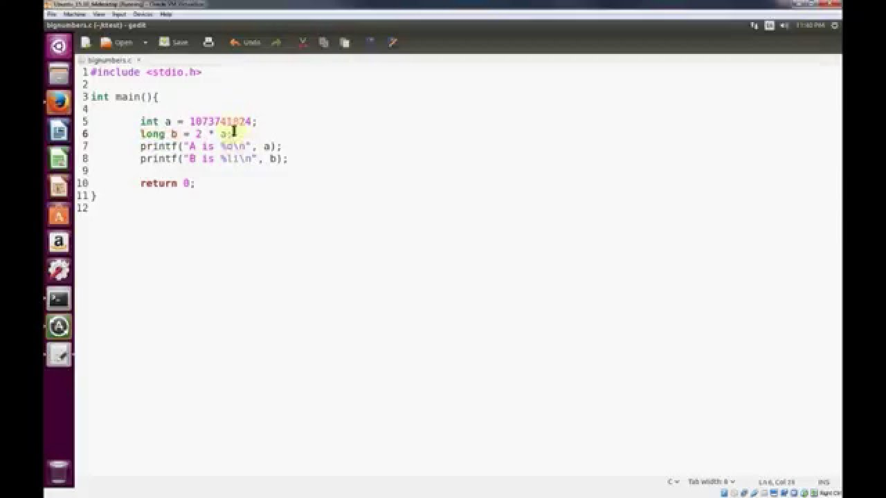 Programming C in Linux - When to use long data type instead of Integer (int)