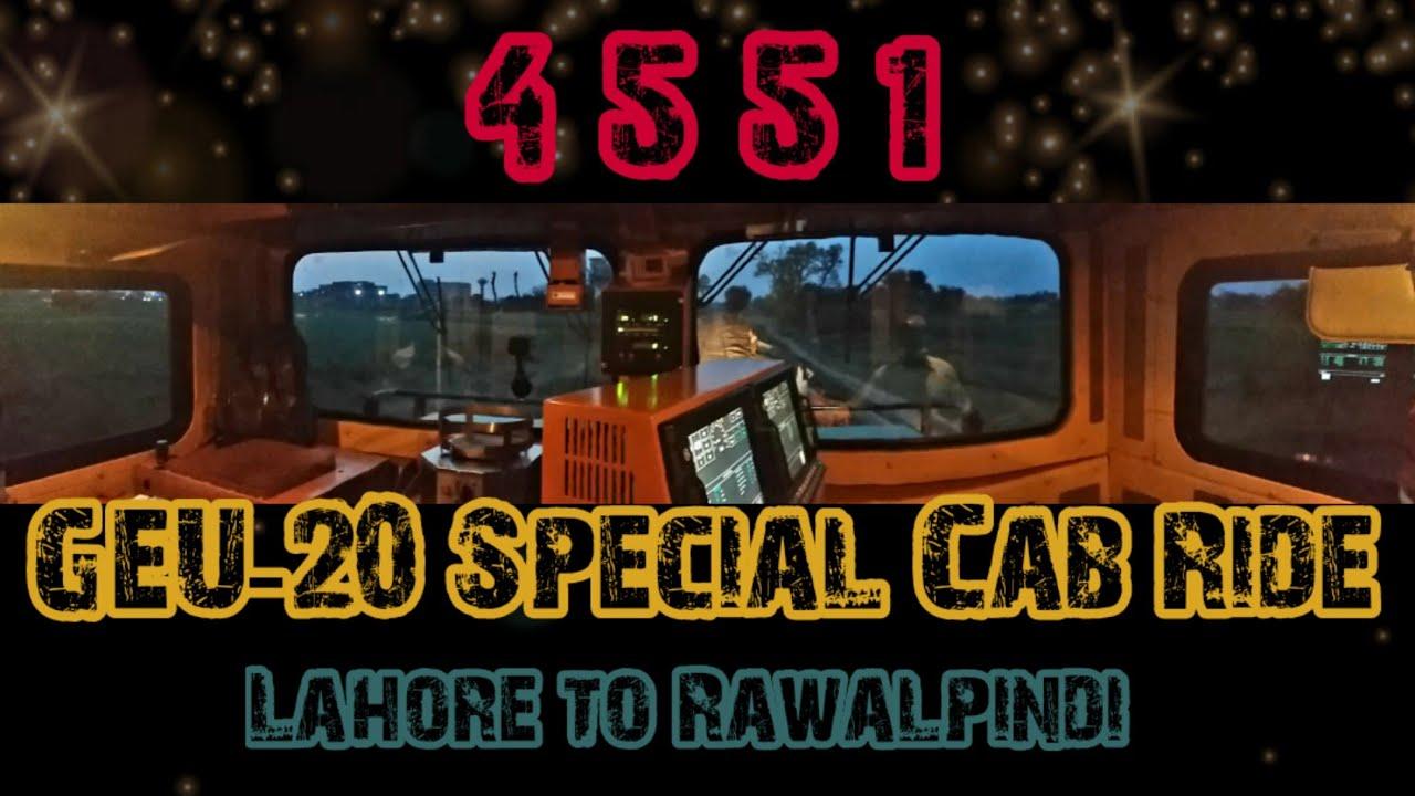 GEU 20 Locomotive Cab Ride From Lahore to Rawalpindi | Islamabad Express Fast speed train