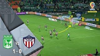 Nacional 1-0 Junior: gol de Helibelton Palacios en el Atanasio Girardot - Fecha 16 Liga Águila 2018