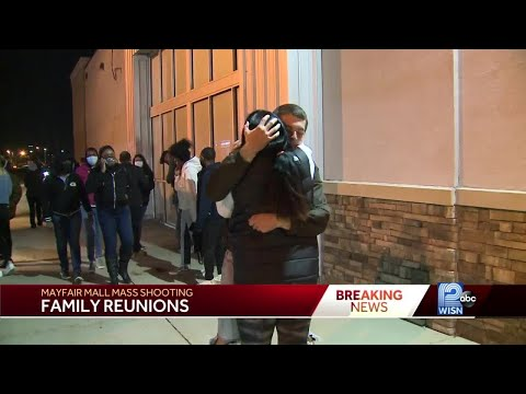 Shoppers and employees reunite with loved ones after Mayfair Mall mass shooting