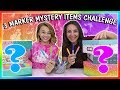 3 MARKER MYSTERY ITEM CHALLENGE | We Are The Davises