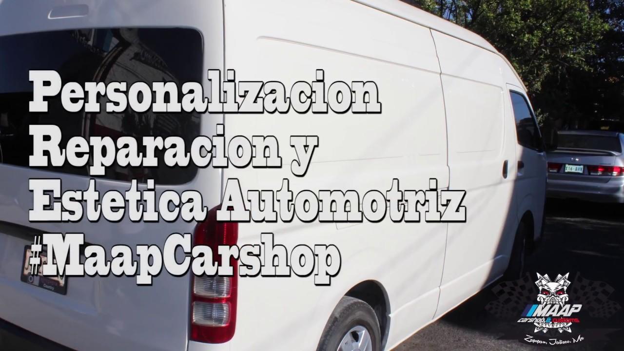 Reparacion de un gran golpe en hiace toyota | Marco MAAP Carshop ...