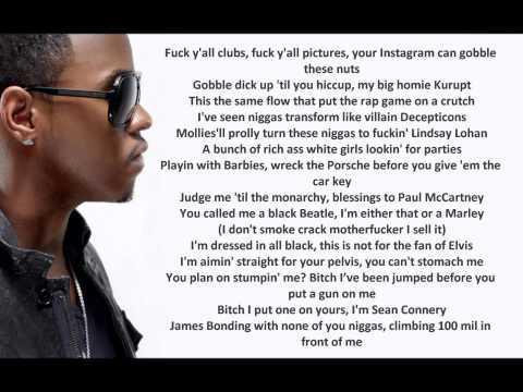 Big Sean - Control Feat Kendrick Lamar & Jay Electronica, Lyrics on Screen