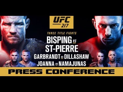Download Youtube: UFC 217 Press Conference: Michael Bisping vs Georges St-Pierre