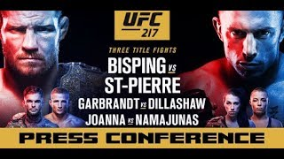 UFC 217 Press Conference: Michael Bisping vs Georges St-Pierre