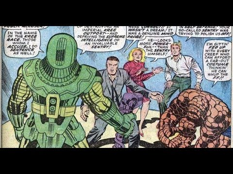 Fantastic Four #63 to #72 (Jack Kirby art) intro Ronin, Sentry, the Kree, Warlock (Him)