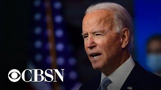 Biden says he expects to start receiving daily intel briefings; would meet with Trump