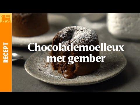 Chocolademoelleux met gember