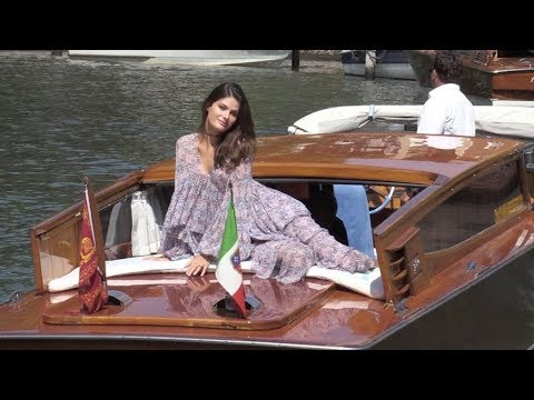 The beautiful Isabeli Fontana posing for the press at the Venice Film Festival 2017