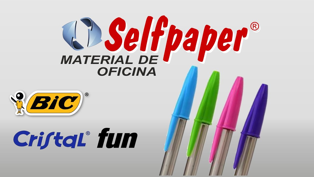 boligrafos bic cristal fun fashion colores pastel en youtube