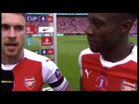 Aaron Ramsey & Welbeck 'Ramsey We want Wenger to stay' Arsenal 2 Chelsea 1