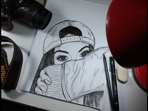 Desenhando Garota Tumblr Tracos De Hq Youtube