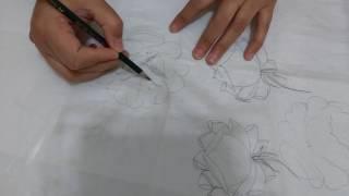 Desenhando rosas com Lia Ribeiro