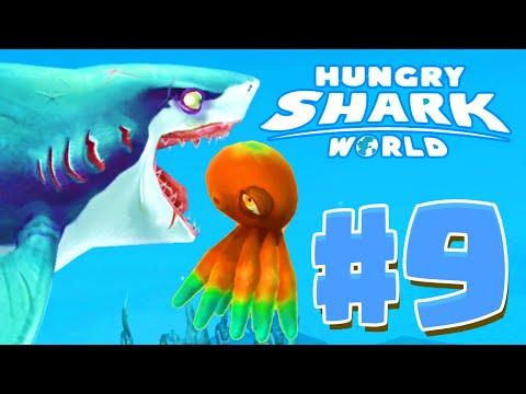 KRAKEN PET UNLOCKED! - Hungry Shark World Part 9 (HSW) - New Update Shark Pets!