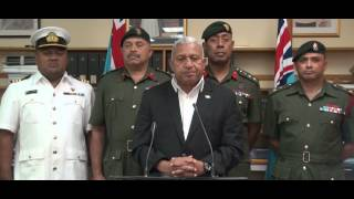 Fijian Prime Minister Delivers Statement To The Nation On Peacekeeping Troops
