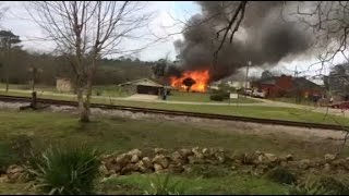 Video of a house fire in repton alabama wednesday morning.