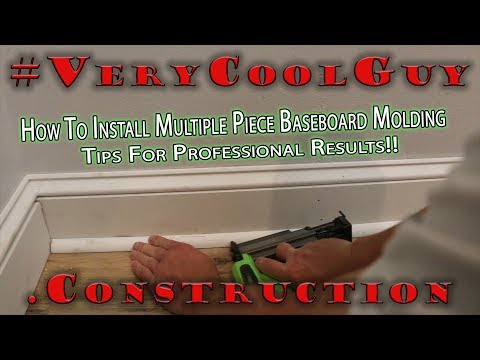 How To Put Trim Up - Installing Baseboard Molding