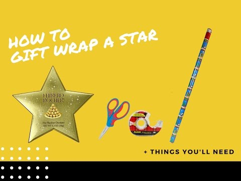 How to Gift Wrap A Star DIY