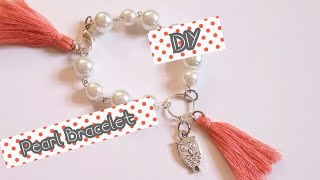DIY bracelets / How to make easy pearl bracelet at home/ jewelry making tutorial