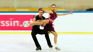 Екатерина Рыбакова Иван Махноносов Ритм танец Юниоры Танцы на льду Линц Гран при по фигурному