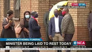 Latest ahead of the Jackson Mthembu funeral