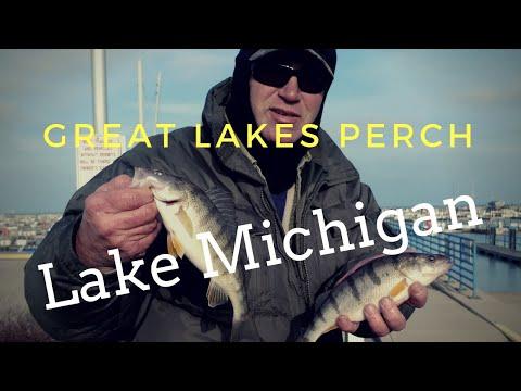 Great Lakes Winter Perch Fishing Lake Michigan