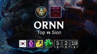 Ornn Top vs Sion - KR Challenger Patch 8.21