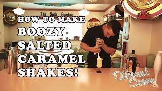 How To Make A  Salted Caramel Boozy Milkshake - Discount Cream