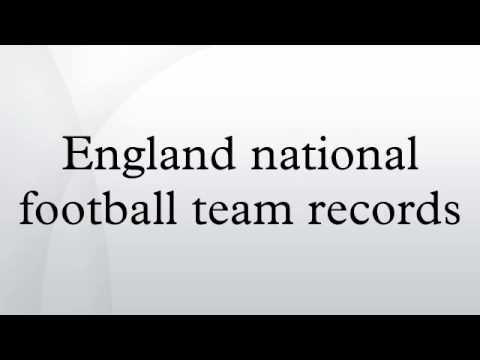 England national football team records