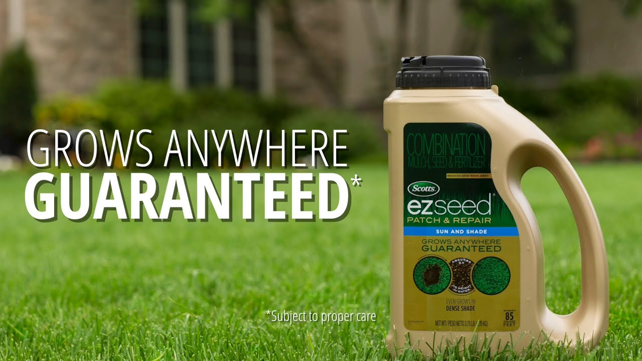 How To Fix Bare Spots In Your Lawn With Scotts Turf Builder Ez