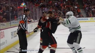 Shawn Horcoff vs Luca Sbisa Apr 25, 2014