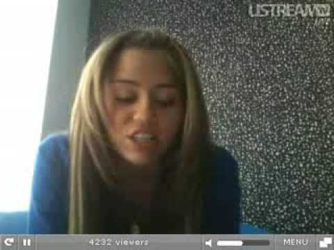Miley Cyrus FULL Live Chat 2009 -TWiTTER-