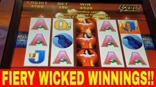 FIERY HOT Wicked Winnings II with Big Wins!! - Redtint Loves Slots