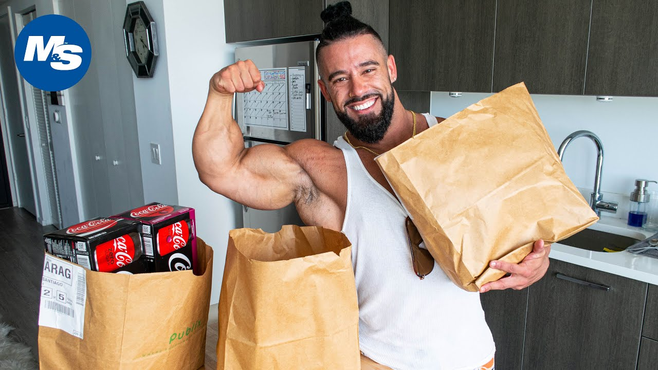 Grocery Shopping With Pro Bodybuilders | COVID19 Edition | Santi Aragon