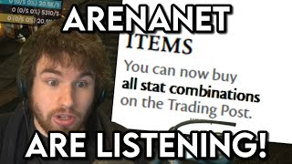 ARENANET LISTENED TO MË - Guild Wars 2 Gear Trading and Dragon Response Missions Update!