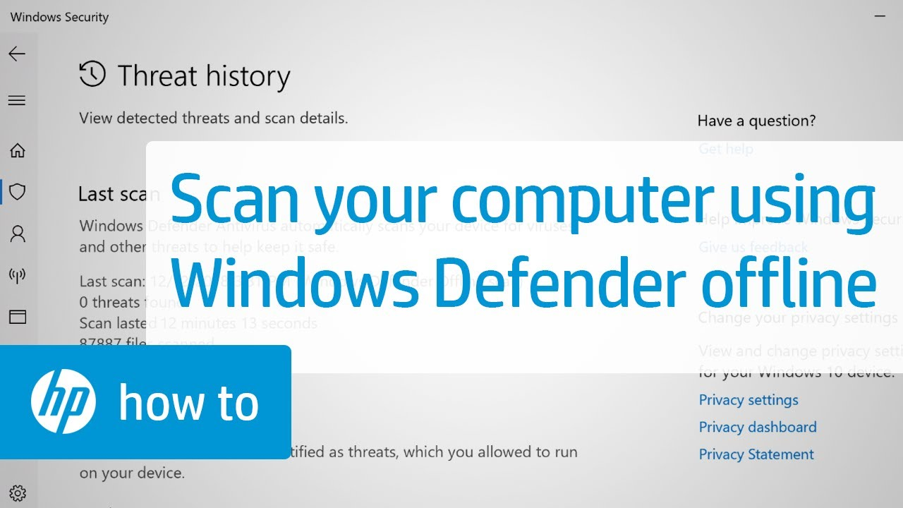 How to Scan your Computer Using Windows Defender Offline | HP Computers | HP