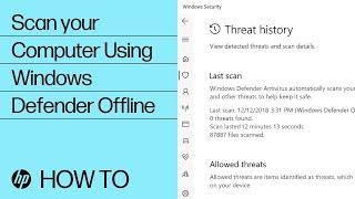 How to Scan your Computer Using Windows Defender Offline   HP Computers   HP