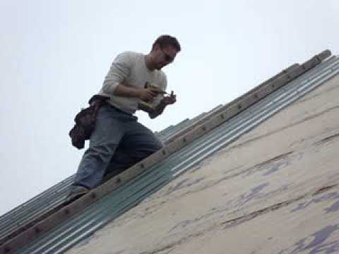 Steep Roof 10 12 Pitch Metal Roof By Menards Youtube