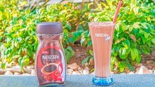 Nescafe ile Kakao Tozlu ve Çilekli Soğuk Kahve