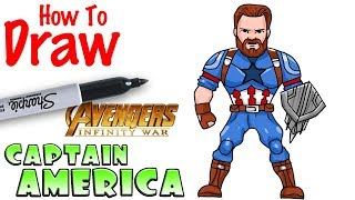 How to Draw Captain America | Avengers Infinity War