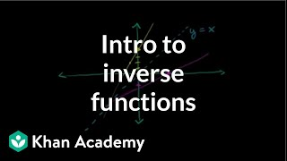 Introduction to function inverses | Functions and their graphs | Algebra II | Khan Academy thumbnail